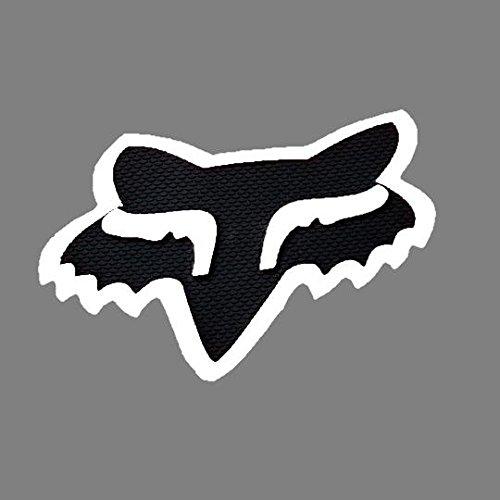 Fox Racing Black White Fox Head Trailer Hitch Cover RZR CAN AM YXZ DIRTBIKE ATV 16124-018-NS