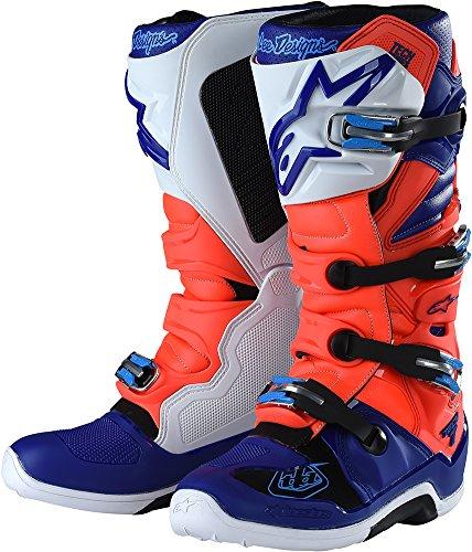 Alpinestars TLD Tech 7 Boots-Flo RedBlue-10
