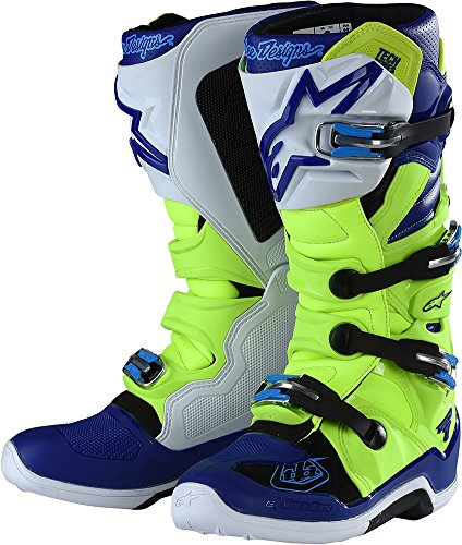 Alpinestars TLD Tech 7 Boots-Flo YellowBlue-8