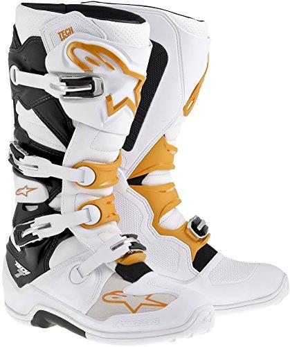 Alpinestars Tech 7 Boots-WhiteOrange-10