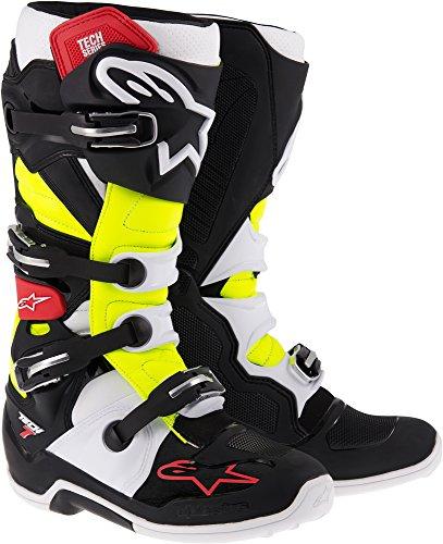 Alpinestars Unisex-Adult Tech 7 Boots BlackRedYellow Size 16