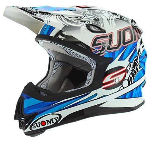 Suomy MX Jump Molotov White Blue Helmet Large