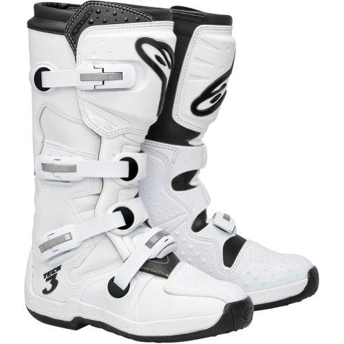 Alpinestars Tech 3 Men's Motocross Motorcycle Boots - White / Size 14