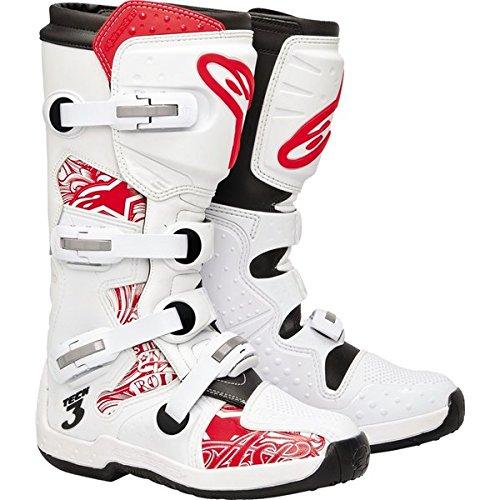Alpinestars Tech 3 Men's Motocross Motorcycle Boots - White/red / Size 12