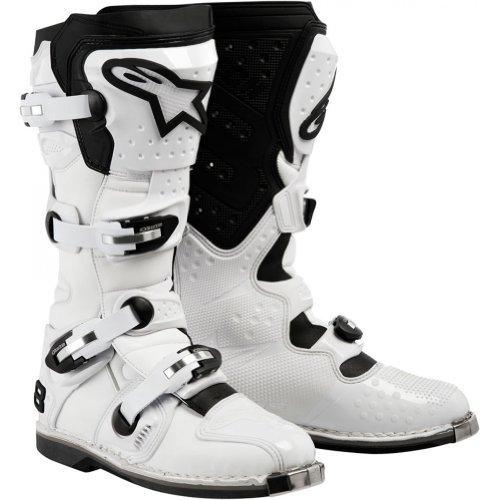 Alpinestars Tech 8 Men's Motocross Motorcycle Boots - White / Size 10