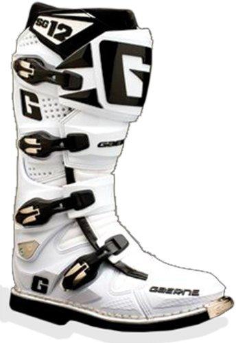 Gaerne Sg-12 Motocross Boots , Distinct Name: White, Size: 8, Primary Color: White, Gender: Mens/unisex 2160-004
