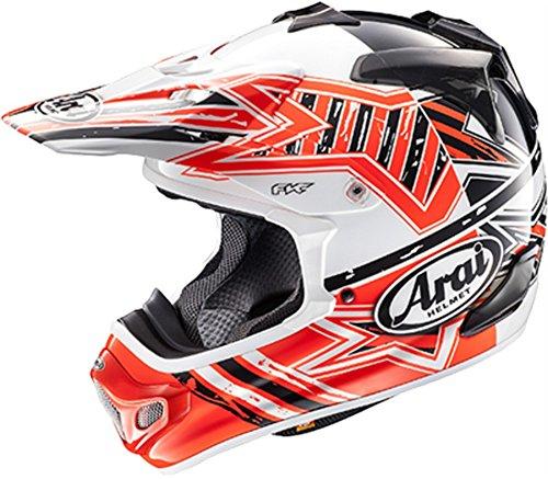 Arai VX-Pro 4 Shooting Star Red Motocross Helmet - Large