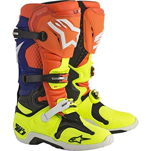 Alpinestars Tech 10 Boots-OrangeBlueYellow-12