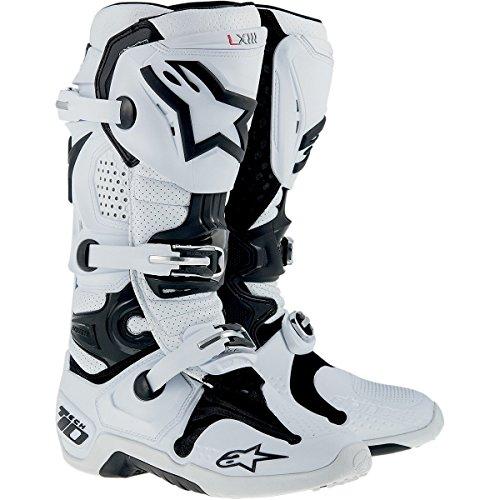 Alpinestars Tech 10 Mens Dirt Bike Motorcycle Boots - White  Size 8