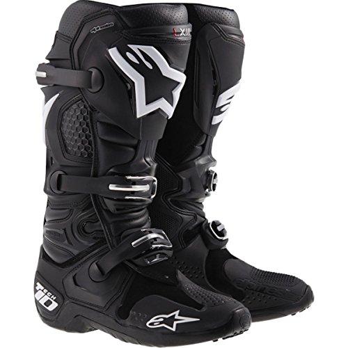 Alpinestars Tech 10 Mens Off-Road Motorcycle Boots - Black  11