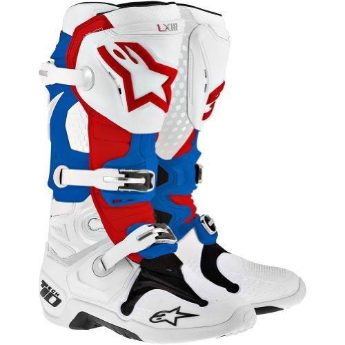 Alpinestars Tech 10 Boots-WhiteRedBlue-8