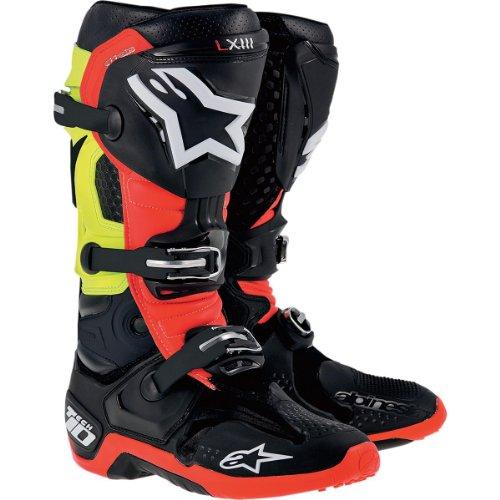 Alpinestars Tech 10 Boots-WhiteRedYellow-9