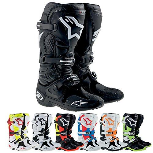 Alpinestars Tech 10 Mens MX Motorcycle Boots - Black  Size 10