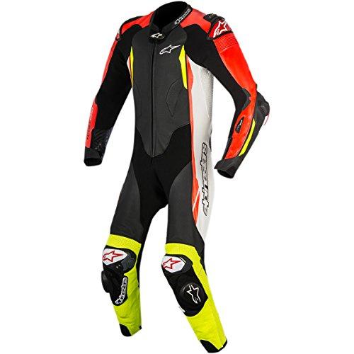 Alpinestars GP Tech Mens 1-Piece Street Race Suits - BlackWhiteRedYellow  58