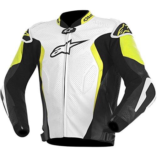 Alpinestars GP Tech Mens Street Motorcycle Jackets - WhiteBlackYellow  52