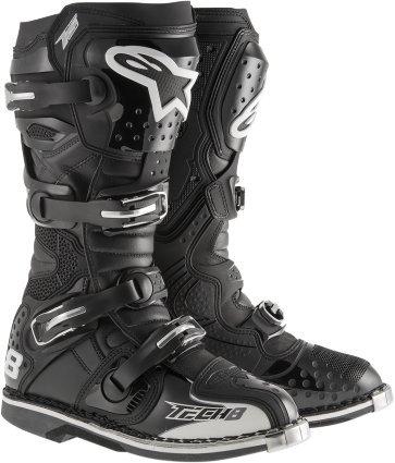 Alpinestars Tech 8 RS Boot MX Boots Adult Motocross CE Certified Black - 15