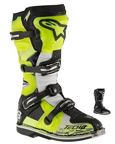 Alpinestars Tech-8 RS Boots 10 BLACKREDYELLOW