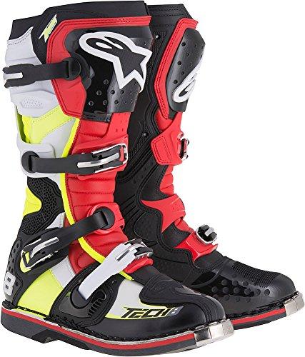 Alpinestars Tech 8 RS Boots-BlackRedYellow-9
