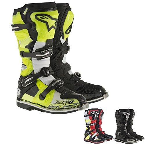 Alpinestars Tech 8 RS Mens Off-Road Motorcycle Boots - BlackRedYellowWhite  8
