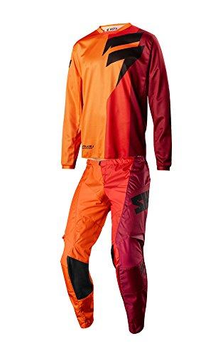 Shift Racing 2018 White Label Tarmac Combo Orange Jersey Pants Riding Gear Dirtbike MX ATV Offroad Adult Mens