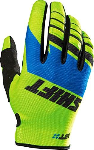 Shift Racing Assault Mens MX Motorcycle Gloves - YellowBlue  Small