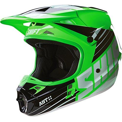 Shift Racing Assault Mens Off-Road Motorcycle Helmets - Green  Medium