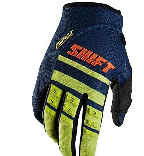 Shift Racing Assault Race Mens MX Motorcycle Gloves - NavyYellow  X-Large