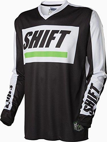 Shift Racing Recon Caliber Mens Off-Road Motorcycle Jerseys - BlackWhite  Large