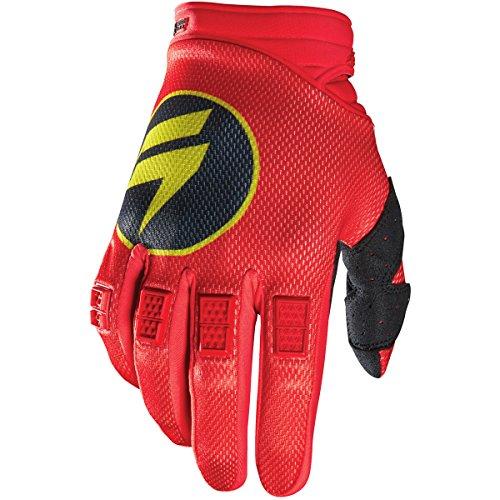 Shift Racing Strike Mens Dirt Bike Motorcycle Gloves - Red  Large