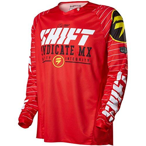 Shift Racing Strike Mens Dirt Bike Motorcycle Jerseys - Red  Medium