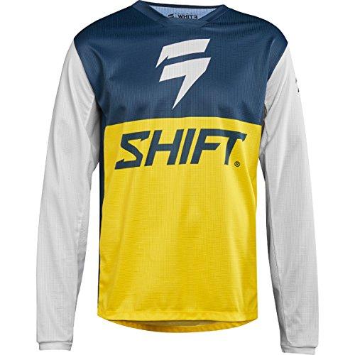 Shift Racing White Label Limited Edition Mens Off-Road Motorcycle Jerseys - Medium  NavyYellow