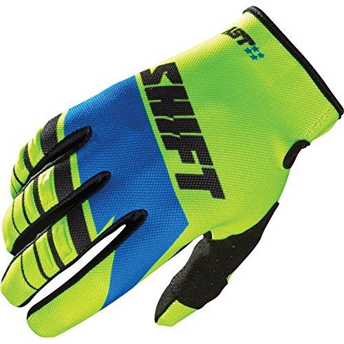 YellowBlueBlack Sz L Shift Racing Assault Gloves Motocross Gloves