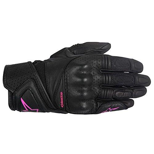 Alpinestars Stella Baika Womens Leather Motorcycle Gloves - BlackPink - X-Small