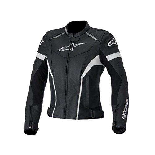 Alpinestars Stella GP Plus R Leather Womens Jacket Gender Womens Primary Color Black Size 42 Apparel Material Leather Distinct Name BlackWhite 3110514-12-42