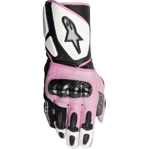 Alpinestars Stella SP-2 Womens Leather On-Road Racing Motorcycle Gloves - WhiteBlackPink  Large