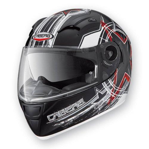 CABERG VOX FREEHAND MATT BLACKWHITE FULL FACE DVS MOTORCYCLE HELMET new L