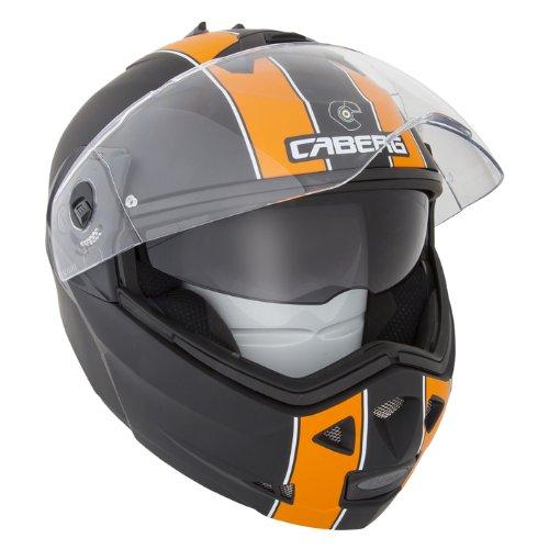Caberg Duke Legend Matt Black Orange Dvs Motorcycle Helmet