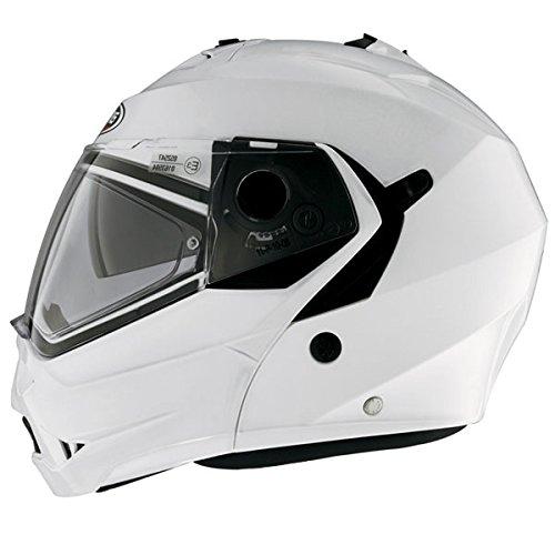 Caberg Duke Metal White Flip Up Front Touring Motorcycle Motorbike Helmet XL