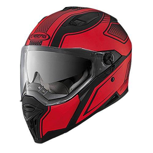 Caberg Stunt Blade Full Face Motorcycle Helmet Medium Matt Black Red