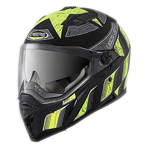 Caberg Stunt Full Face Touring Motorcycle Helmet - Steez Matt BlackYellow XL