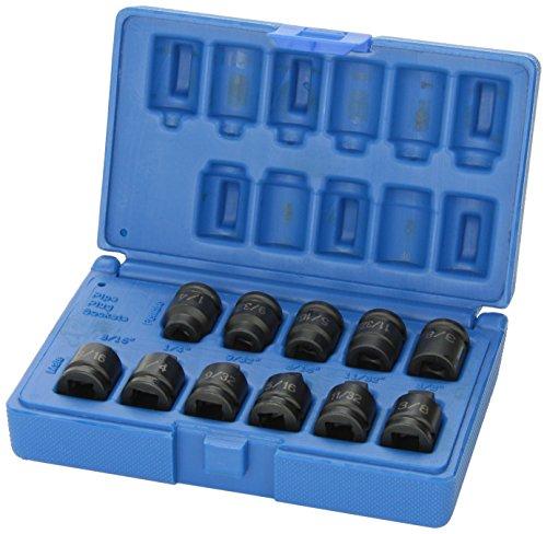 Grey Pneumatic 1211P 38 Drive 11-Piece Pipe Plug Socket Set