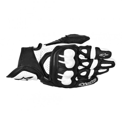 Alpinestars GPX Leather Gloves - 3X-LargeBlackWhite