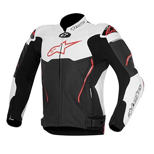 Alpinestars Atem Leather Motorcycle Jacket - BlackRed - 52