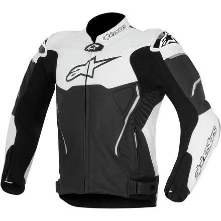 Alpinestars Atem Leather Motorcycle Jacket - BlackWhite - 52