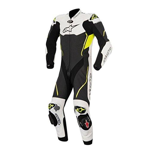 Alpinestars Atem Leather Motorcycle Suit - BlackYellow - 48