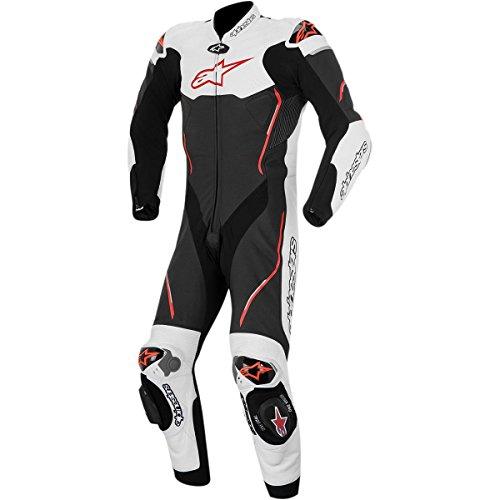 Alpinestars Atem Mens 1-Piece Street Motorcycle Race Suits - BlackWhiteRed  50