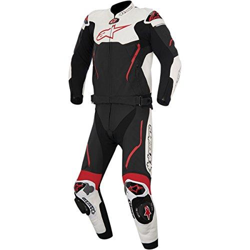 Alpinestars Atem Mens 2-Piece Street Motorcycle Race Suits - BlackWhiteRed  56