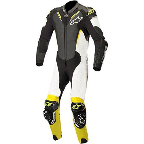 Alpinestars Atem V3 Mens 1-Piece Street Race Suits - BlackWhiteYellow  58