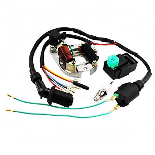 Goofit Ignition Rebuild Kit For 50cc 70cc 90cc 110cc 125cc Atv Stator Cdi Coil Plug At7c