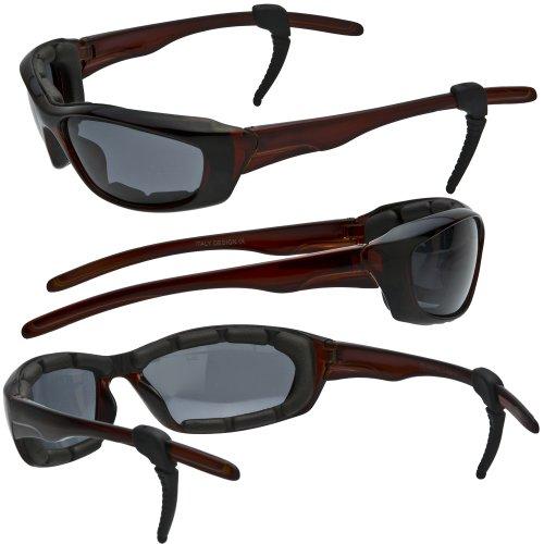 Piston Polarized Foam Padded Motorcycle Sunglasses Free Rubber Ear Locks And Semi-hardshell Case